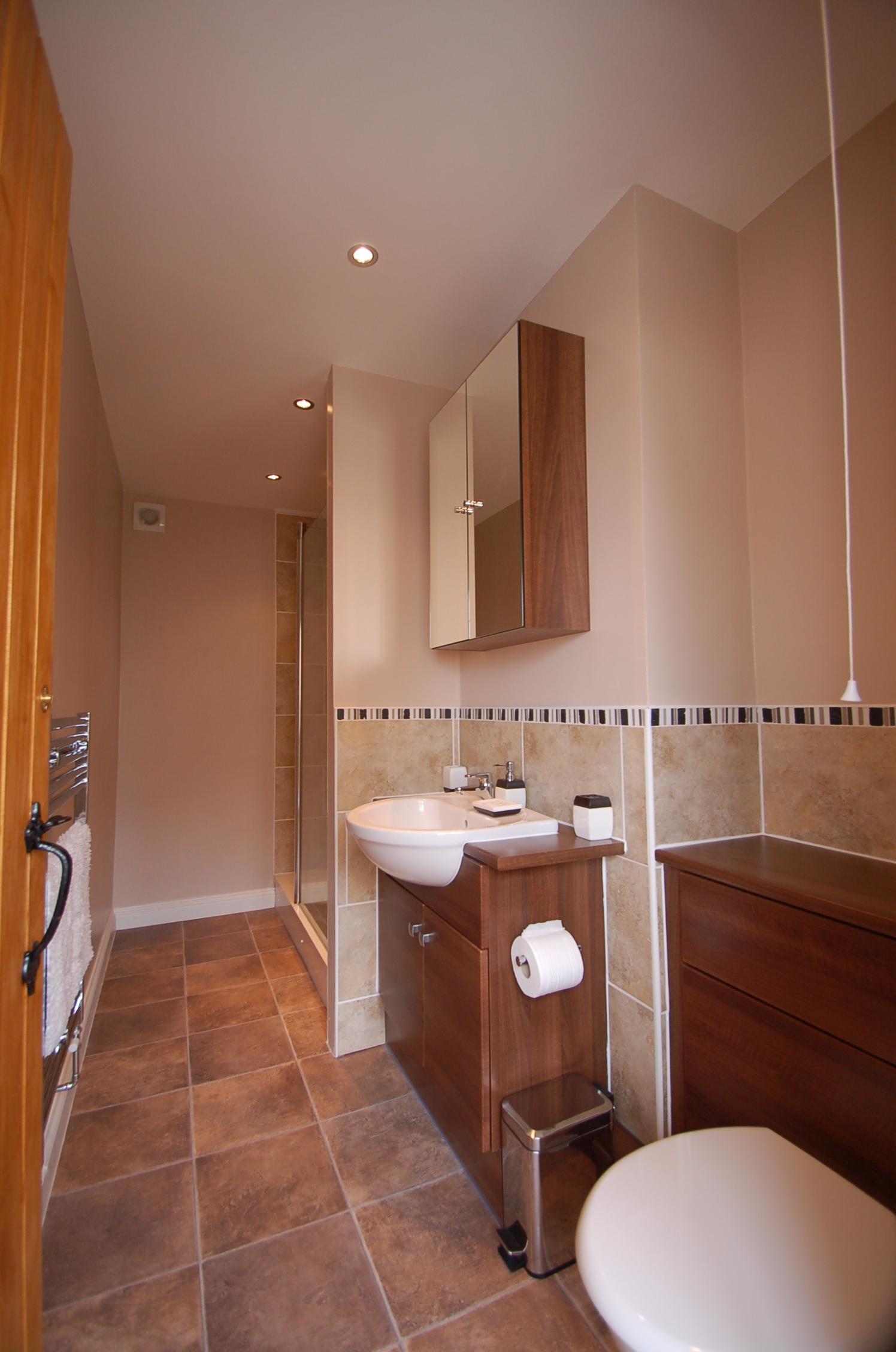 First floor bathroom with walk-in shower