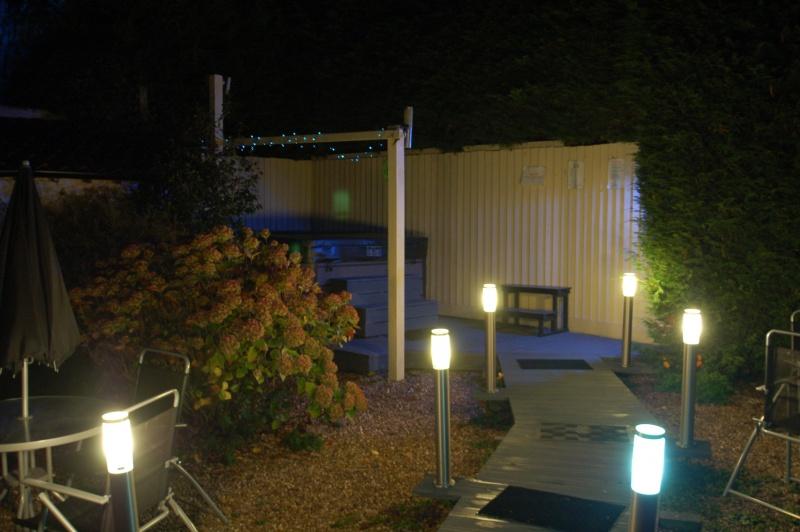 Illuminated Hot Tub Path