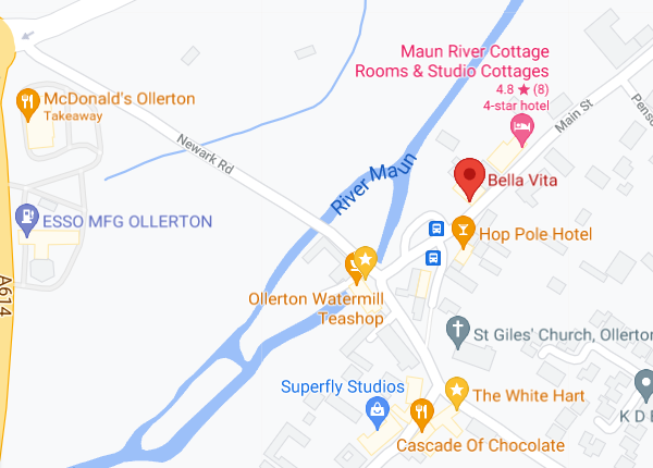 Bella Vita Google Map