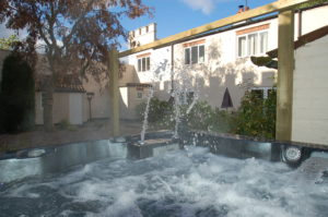 Courtyard and Hydrotherapy hot tub