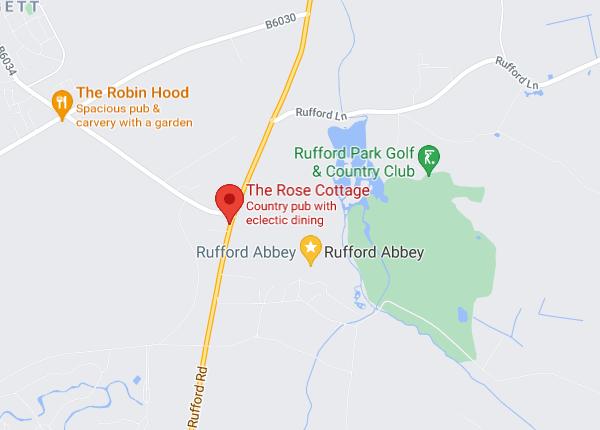 The Rose Cottage Google Map