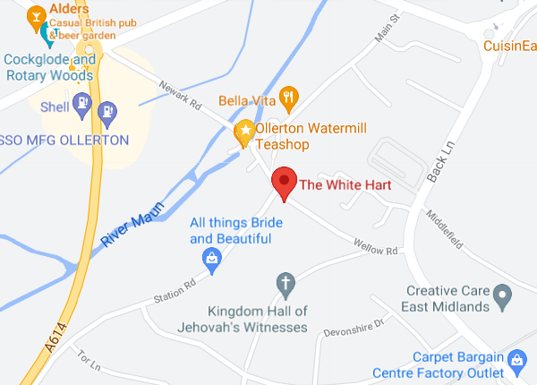 The White Hart Google Map